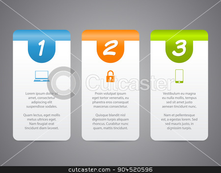 Infographic labels with cool icons and numbers stock vector
