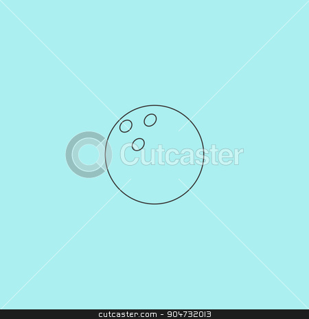Bowling ball Vector illustration