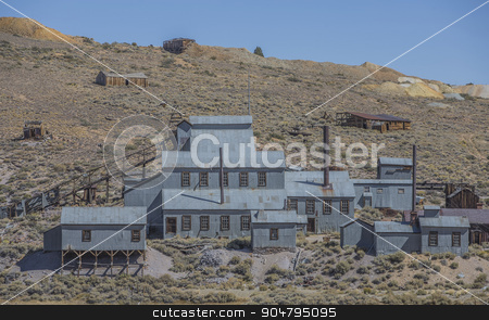 Mining Operation at Bodie Ghost Town stock photo, An abandoned old west silver mine in the Sierra Nevada mountains by Scott Griessel