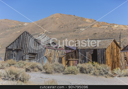 Colorful Ruins of Ghost Town Home stock photo, Ghost town home ruins at Bodie in California by Scott Griessel