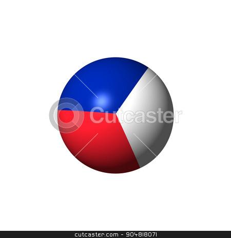 France Flag Sphare stock photo, France Flag with the color blue white red. by Henrik Lehnerer