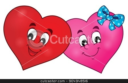 Two overlapping stylized hearts theme 1