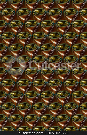 Brwon Glass Abstract Fractal stock photo, A brown and black glass abstract fractal. by Henrik Lehnerer