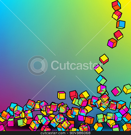 Abstract 3d colorful mosaic background. EPS8
