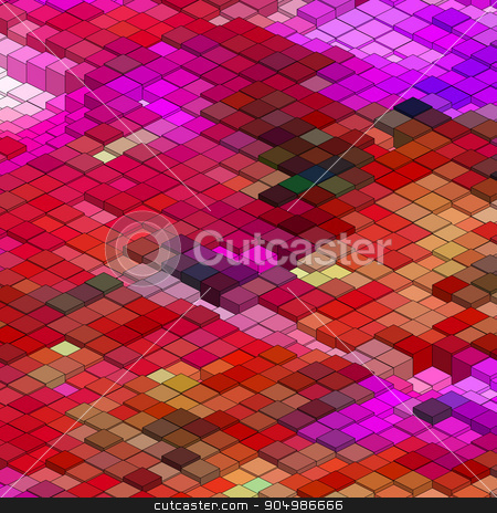Abstract 3d colorful mosaic background. EPS 8