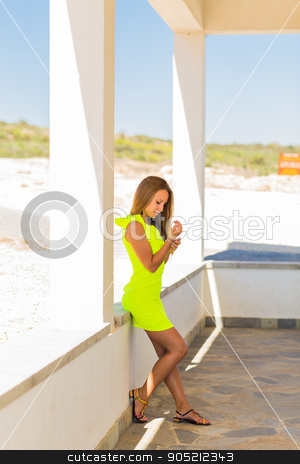 Portrait of a beautiful young Caucasian woman outdoor stock photo, A portrait of a beautiful young Caucasian woman outdoor by Satura86