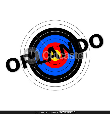 Orlando Target stock photo, Target background with the writing Orlando over it. by Henrik Lehnerer