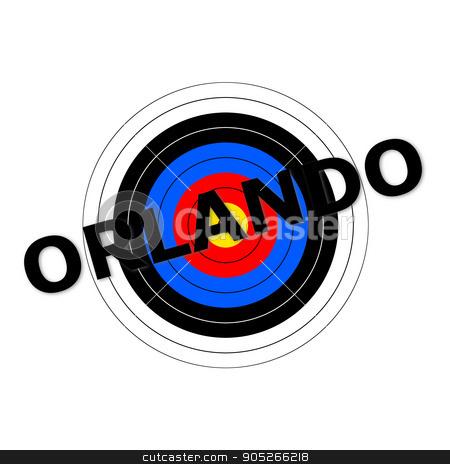 Orlando Target stock photo, Target background with the writing Orlando over it. by Henrik Lehnerer