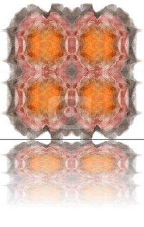 Fractal stock photo, Beautiful flows of different colors build this fractal by Henrik Lehnerer