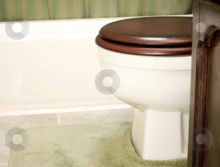 Bathroom Toilet setting stock photo, Bathroom toilet setting by John Teeter