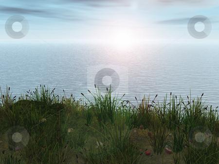 Ocean scene setting stock photo,  by John Teeter