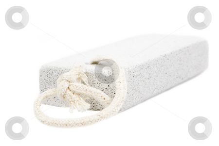 Spa pumise stone on white stock photo, Spa pumise stone on white background by John Teeter