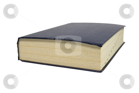 Large thick book stock photo, Large thick book on white isolated background by John Teeter