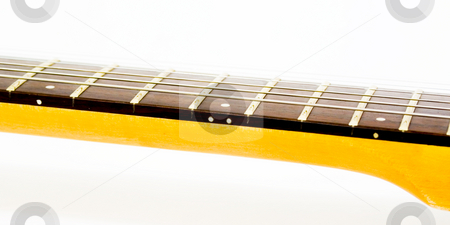 Guitar Strings stock photo, Guitar Strings on guitar by John Teeter