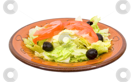 Isolated dinner salad stock photo, Isolated dinner salad no dressing by John Teeter