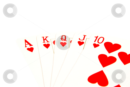 Winning deck stock photo, Straight flush cards by John Teeter