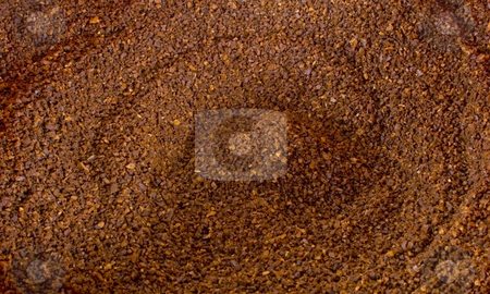 Coffee ground background stock photo, Close up of coffee grounds by John Teeter