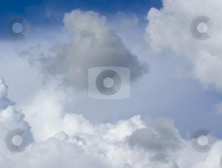 Storm cloud stock photo, Storm cloud in white clouds by John Teeter