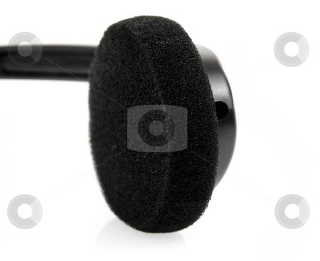 Close up of headphone stock photo, Close up of stereo headphone by John Teeter
