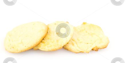 3 Sugar Cookies stock photo, Three baked sugar cookies by John Teeter