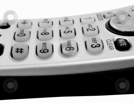Isolated touch pad from telephone stock photo, Isolated on white background touch pad on telephone by John Teeter