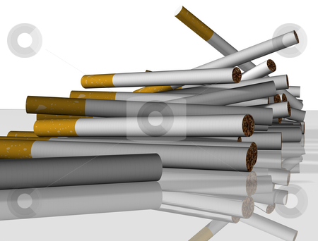 Cigarettes falling stock photo, A load of cigarettes falling toward the viewer by Jean Larue-Frechette