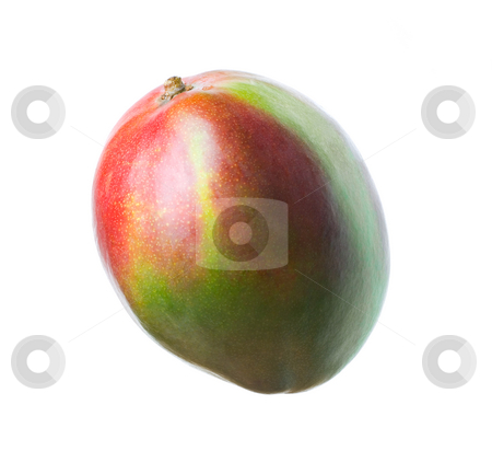 Mango's stock photo, Delicious mango isolated over white background by Tommy Maenhout