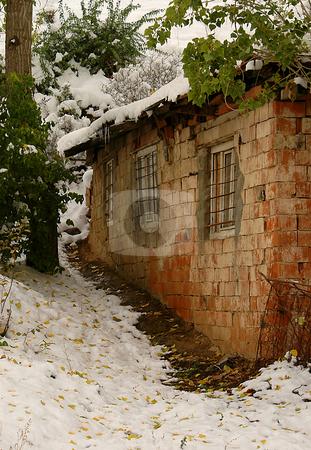 Turkish Village stock photo, House in turkish village at winter time by Kobby Dagan
