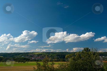 Sommerhimmel in Schwaben stock photo, Sommerhimmel in Schwaben by Wolfgang Heidasch