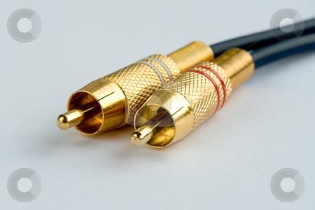 Cinch-Stecker stock photo, Zum vielseitigen Anschluss von Audio Ger?ten an die Stereo-Anlage by Wolfgang Heidasch