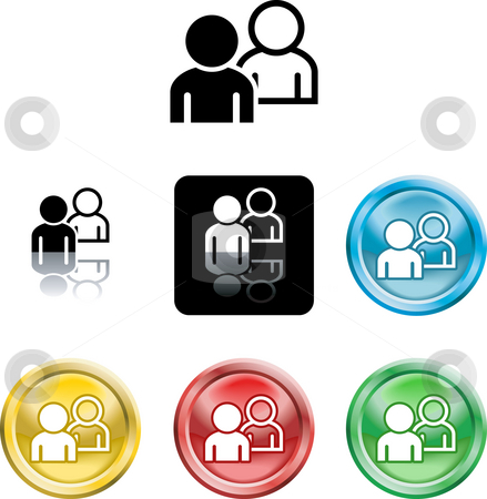 People networking icon symbol stock photo, Several versions of an icon symbol of stylised people by Christos Georghiou