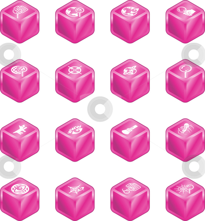 Web Search Cube Icon Series Set stock photo, Web Search Icons Series Set. A series of web search icons set. by Christos Georghiou