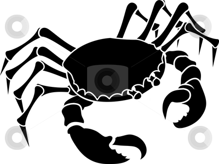Crab. stock photo, Monochrome illustration of a stylised Crab by Christos Georghiou