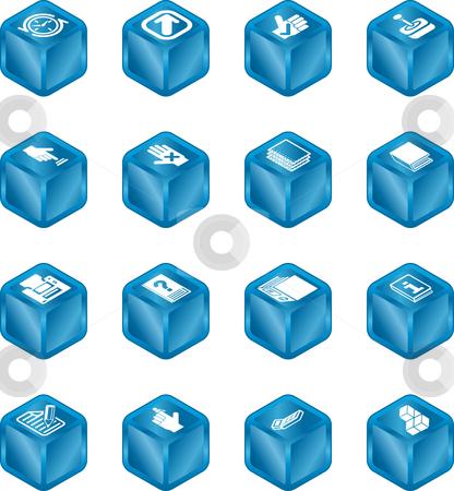 Applications Cube Icon Series Set stock photo, A cube icon series set for computer applications. by Christos Georghiou