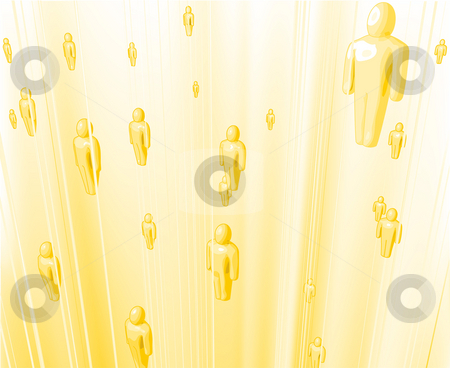 Souls or Angels Floating upwards stock photo, Vector illustration of souls or angels floating upwards bathed in light by Christos Georghiou