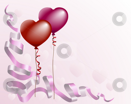 Heart shaped love balloon background stock photo, A valentine by Christos Georghiou