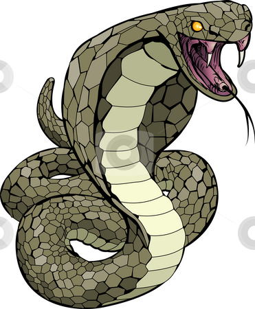Cobra snake about to strike illustration stock photo, A Cobra snake about to strike illustration by Christos Georghiou