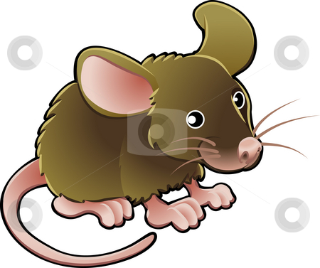 Cute Mouse Vector Illustration stock photo, A vector illustration cute little brown mouse by Christos Georghiou