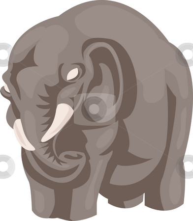 Elephant  stock photo, An illustration of a stylised elephant by Christos Georghiou