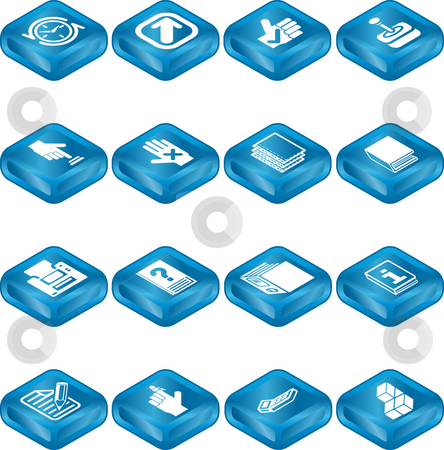 Applications Icon Series Set stock photo, An icon series set for computer applications. by Christos Georghiou