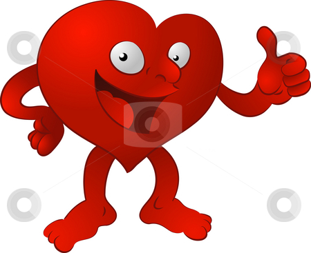 Heart man. stock photo, An illustration of a heart character giving the thumbs up by Christos Georghiou