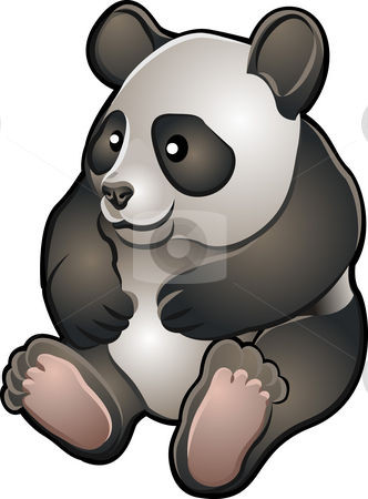 Cute Friendly Panda Vector Illustration stock photo, A vector illustration of a cute friendly giant panda bear by Christos Georghiou