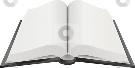 Open Book Illustration stock photo, A Vector illustration of an open book with blank pages by Christos Georghiou