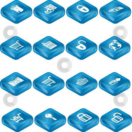 Security and E-Commerce Icon Set Series stock photo, Security and e-commerce icon set series. by Christos Georghiou