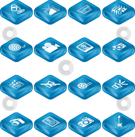 Media Icon Series Set stock photo, A series set of icons relating to various types of media. by Christos Georghiou