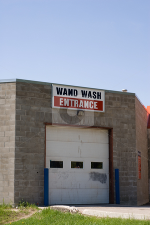 Car Wash Entrance stock photo, The outside of a wand car wash by Richard Nelson