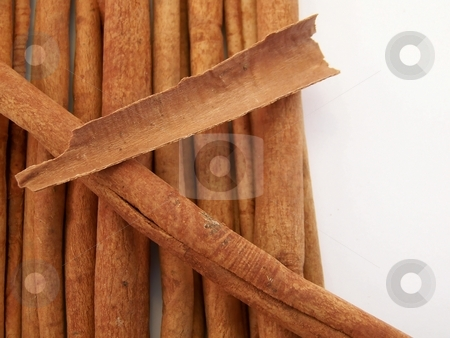 Cinnamon Sticks stock photo, Image of a pile of cinnamon sticks, with a broken piece placed on top. by Jill Oliver