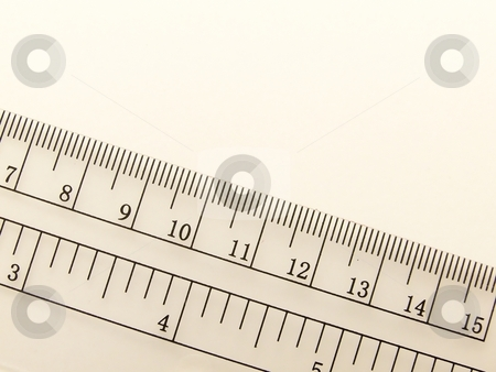 Ruler 1 stock photo, Image of a transparent ruler. by Jill Oliver