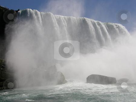 Niagara Falls stock photo, Niagara Falls - border of USA by Ritu Jethani
