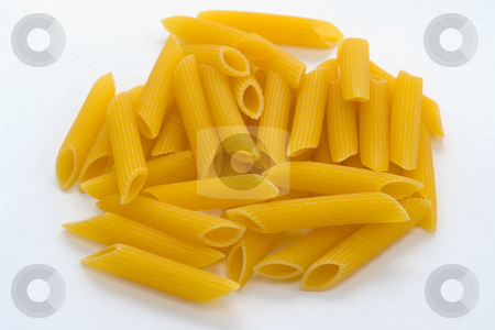 Penne pasta noodles stock photo, Pasta Nudeln Penne by Wolfgang Heidasch